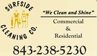 SurfSide Cleaning logo:  Residential cleaning and commercial janitorial service